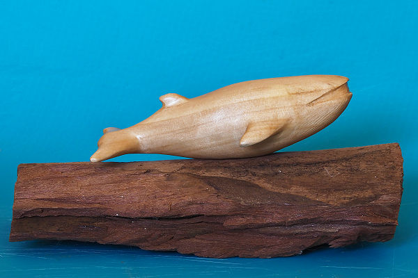 Blue whale carving