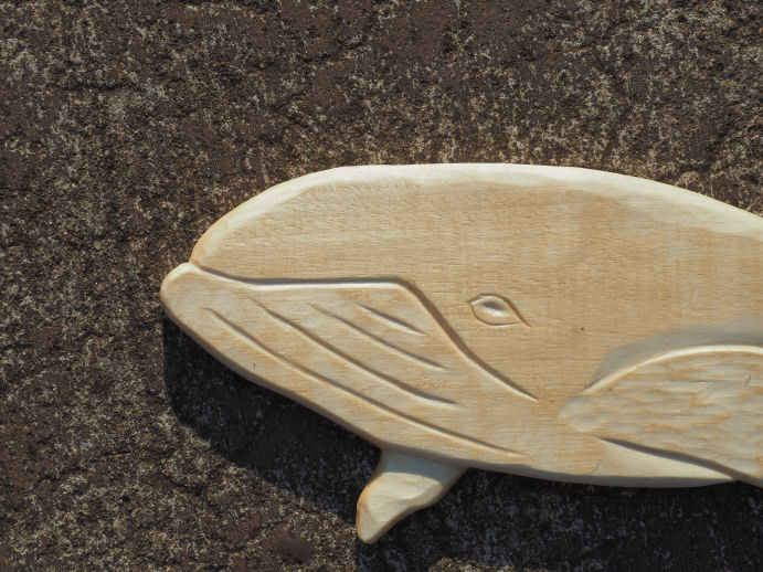 whale carving