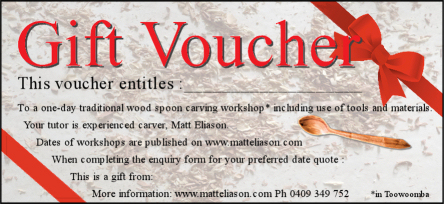 spoon carving workshop voucher
