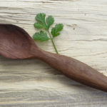 Unusual dark wood Australia Native Timber Lilly Pilly wooden tea spoon