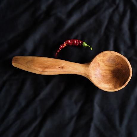 Golden Wattle deep tound serving spoon