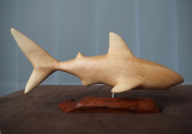 great white shark sculpture