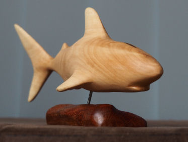 great white shark sculpture